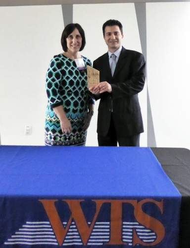 Isthmus Senior Associate, Amber Nord presented the award to Isthmus Vice President, Avo Toghramadjian.
