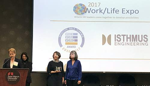 Isthmus honored with When Work Works Award